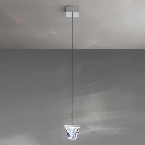 Fabbian Tripla LED-Hängeleuchte Kristall