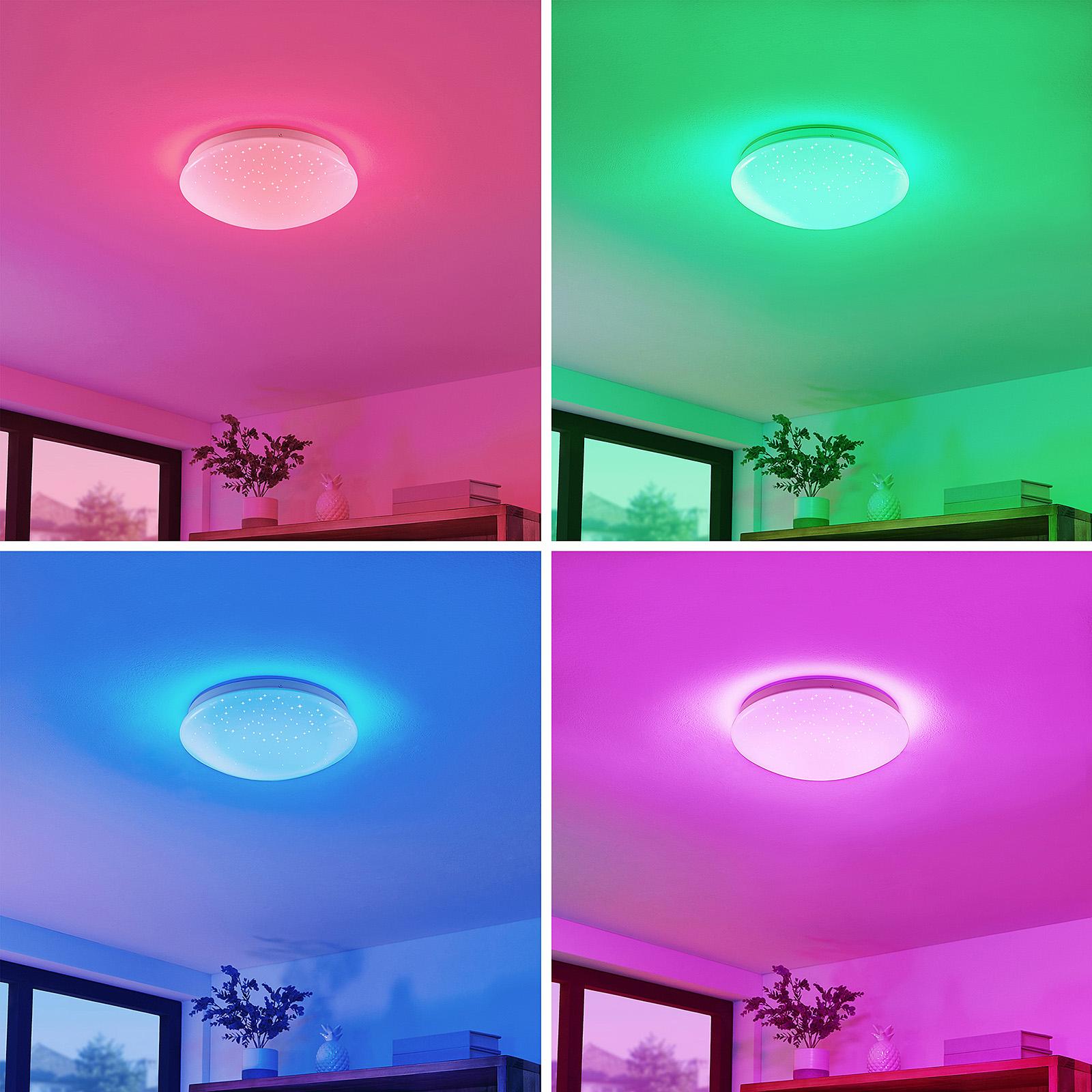 Lindby Janosch LED-Deckenleuchte mit Fernbedienung