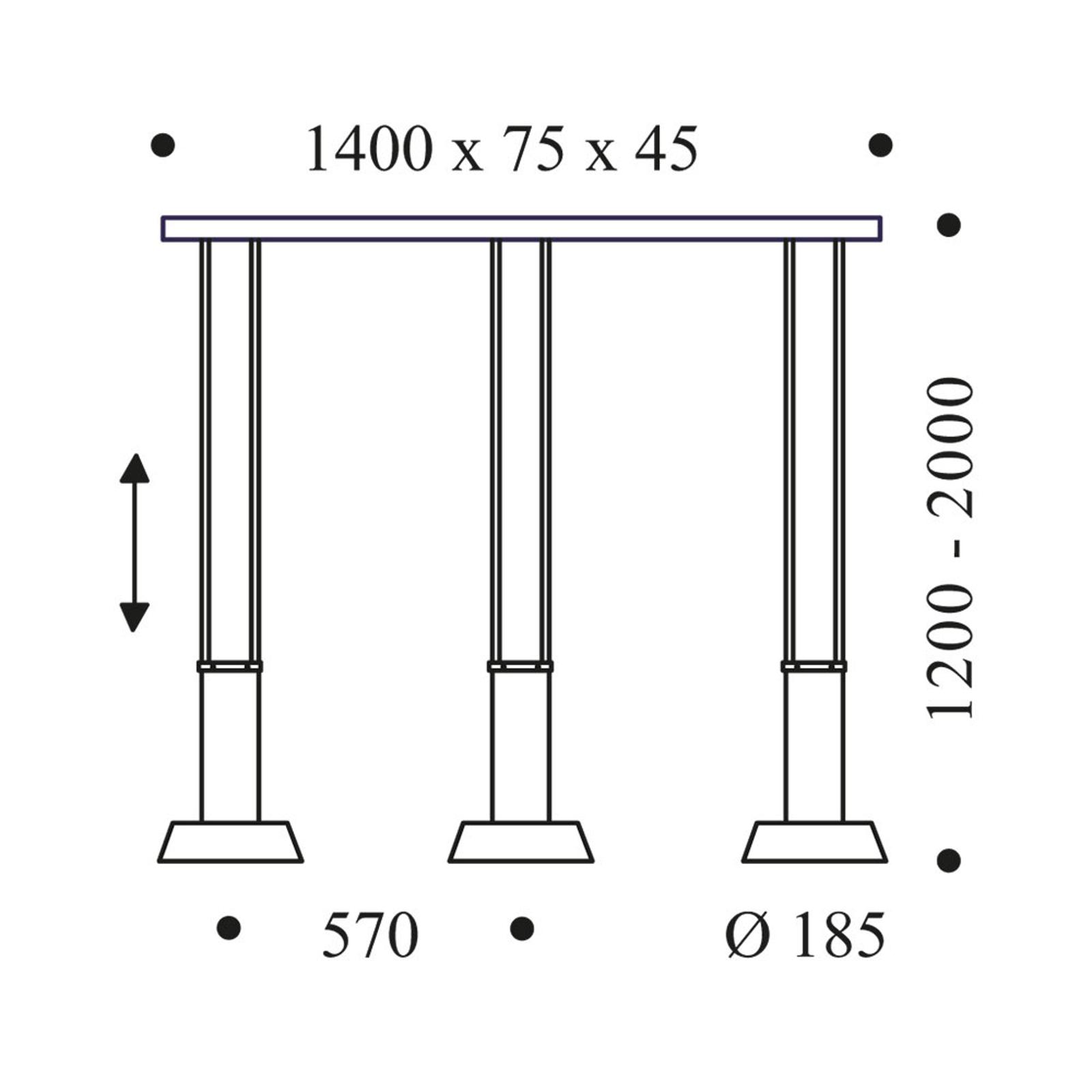OLIGO Glance LED hanglamp 3-lamps zwart