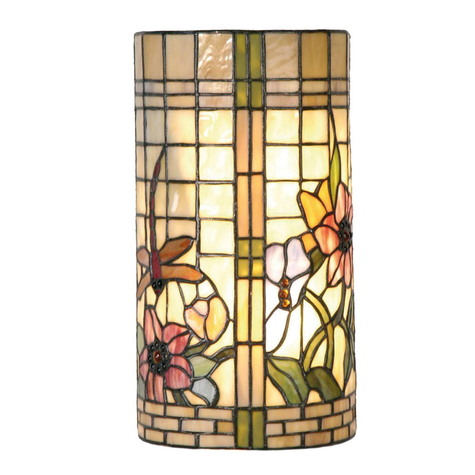 Lampada da parete floreale Hannah in stile Tiffany