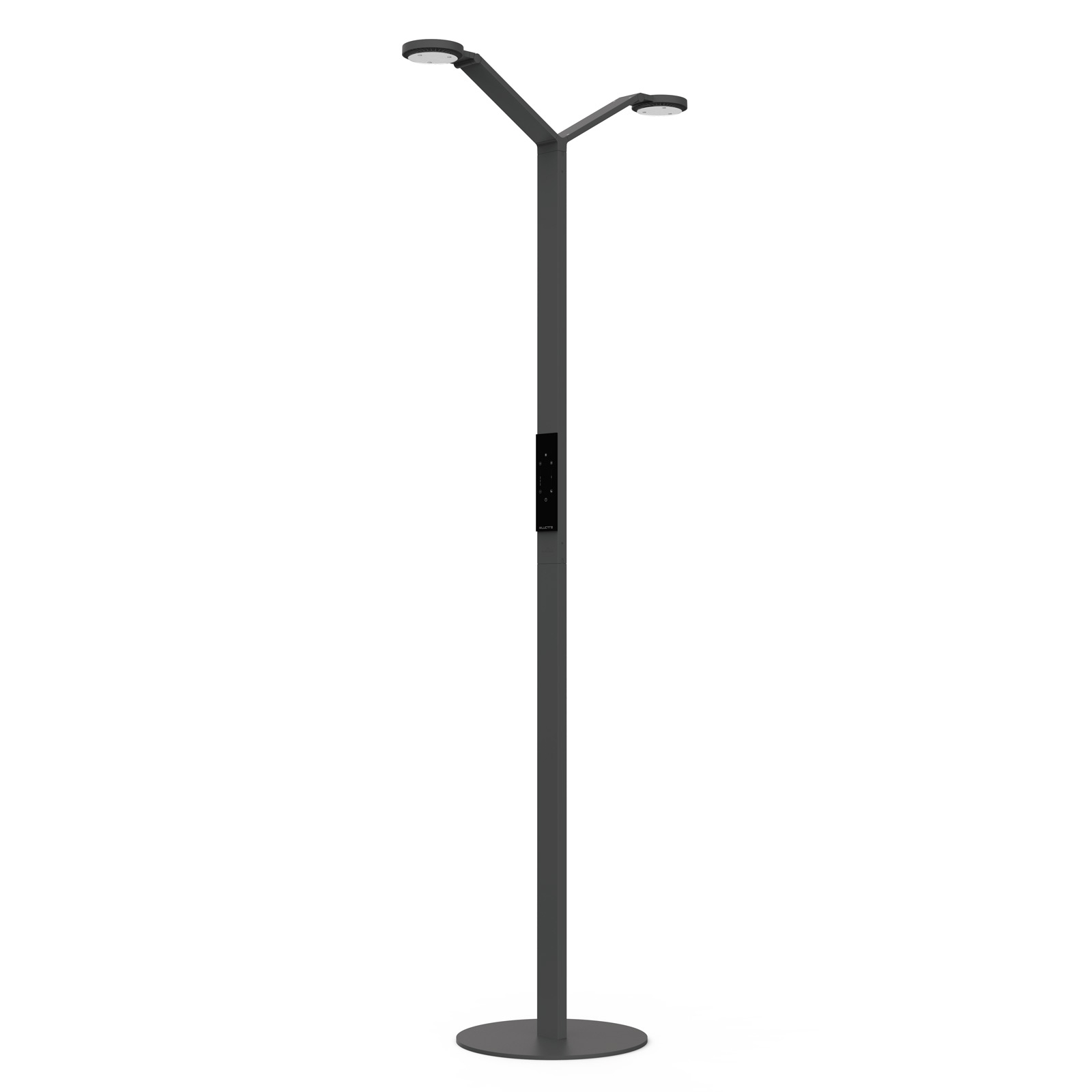Luctra Floor Twin Radial LED-Stehleuchte schwarz