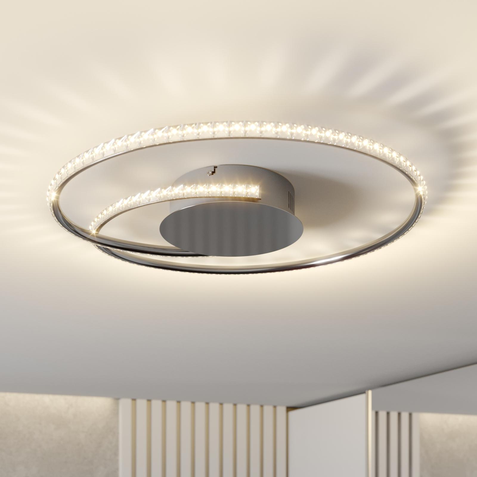 Lindby Joline LED-Deckenleuchte, Kristall, 45 cm