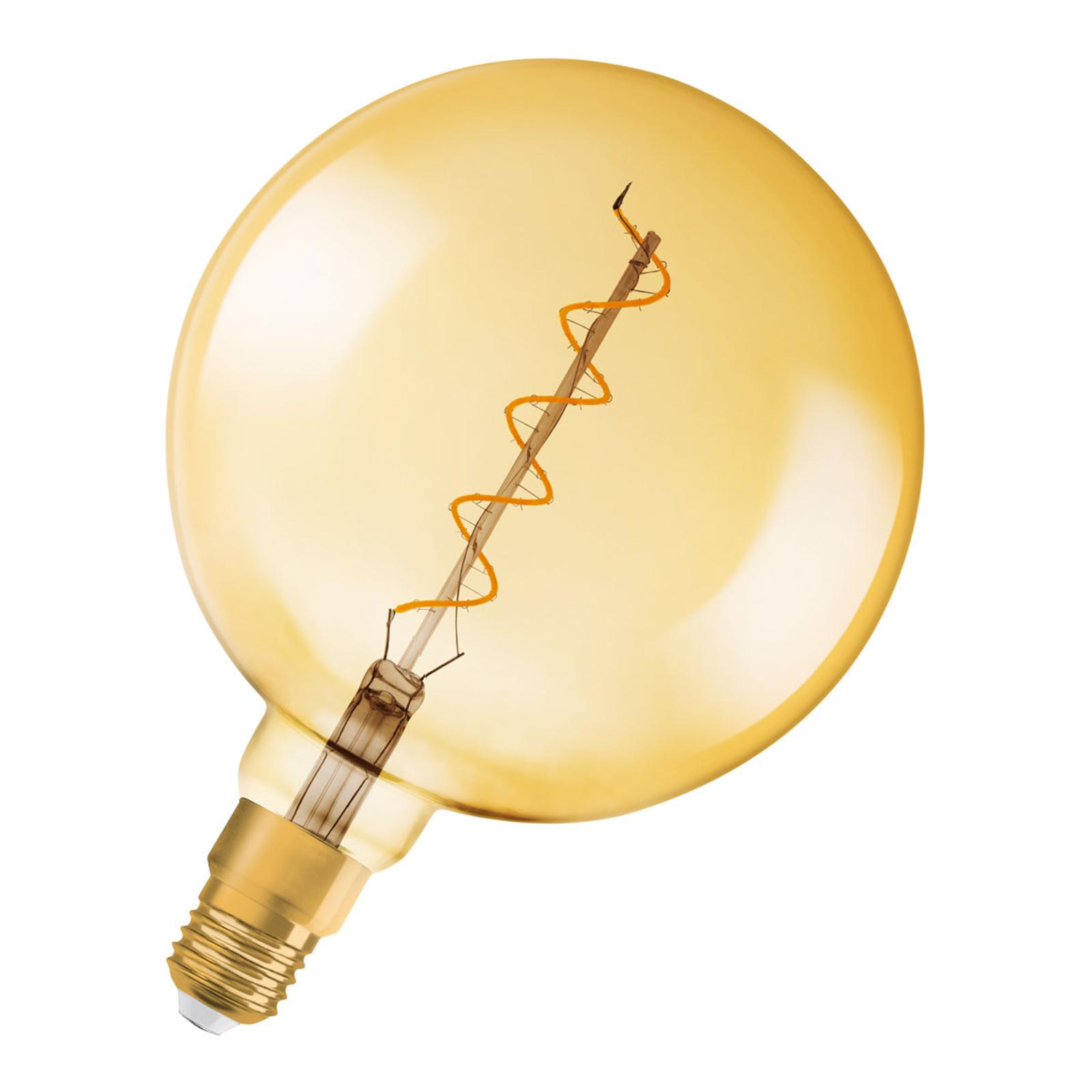 OSRAM ampoule globe LED E27 5W Vintage 820 dorée