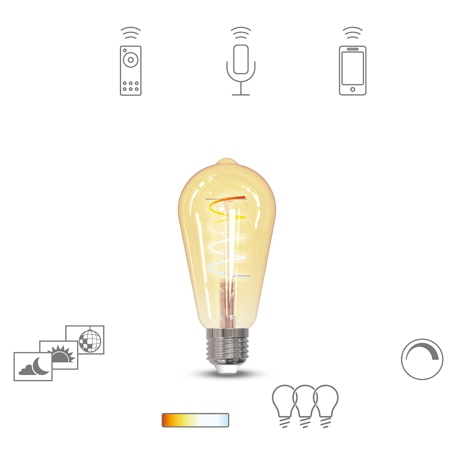 Müller Licht tint LED-pære retro gold E27 5,5W