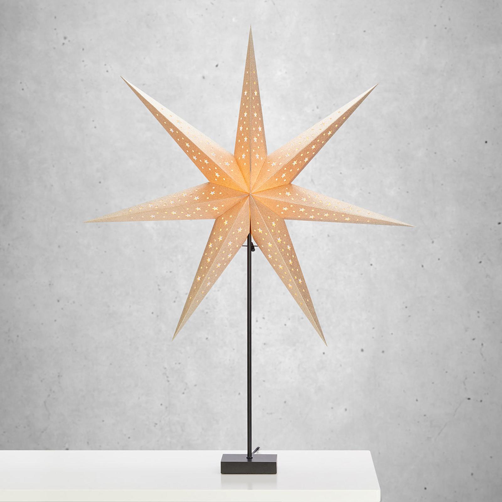 Stojąca gwiazda Solvalla – wysokość 100 cm złota