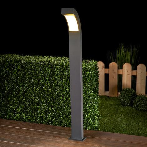 Grafitgraue LED-Wegeleuchte Lennik