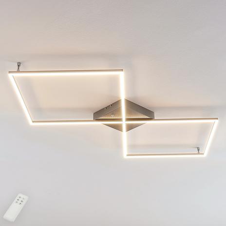 Prostoliniowa lampa sufitowa LED Romee z pilotem