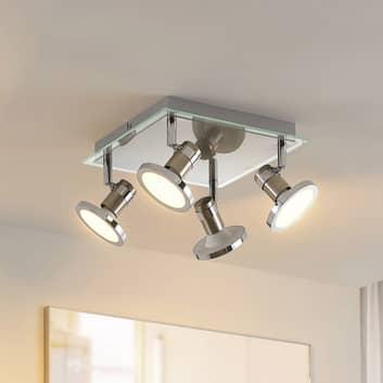 Lindby Stiglio plafón LED foco, 4 luces