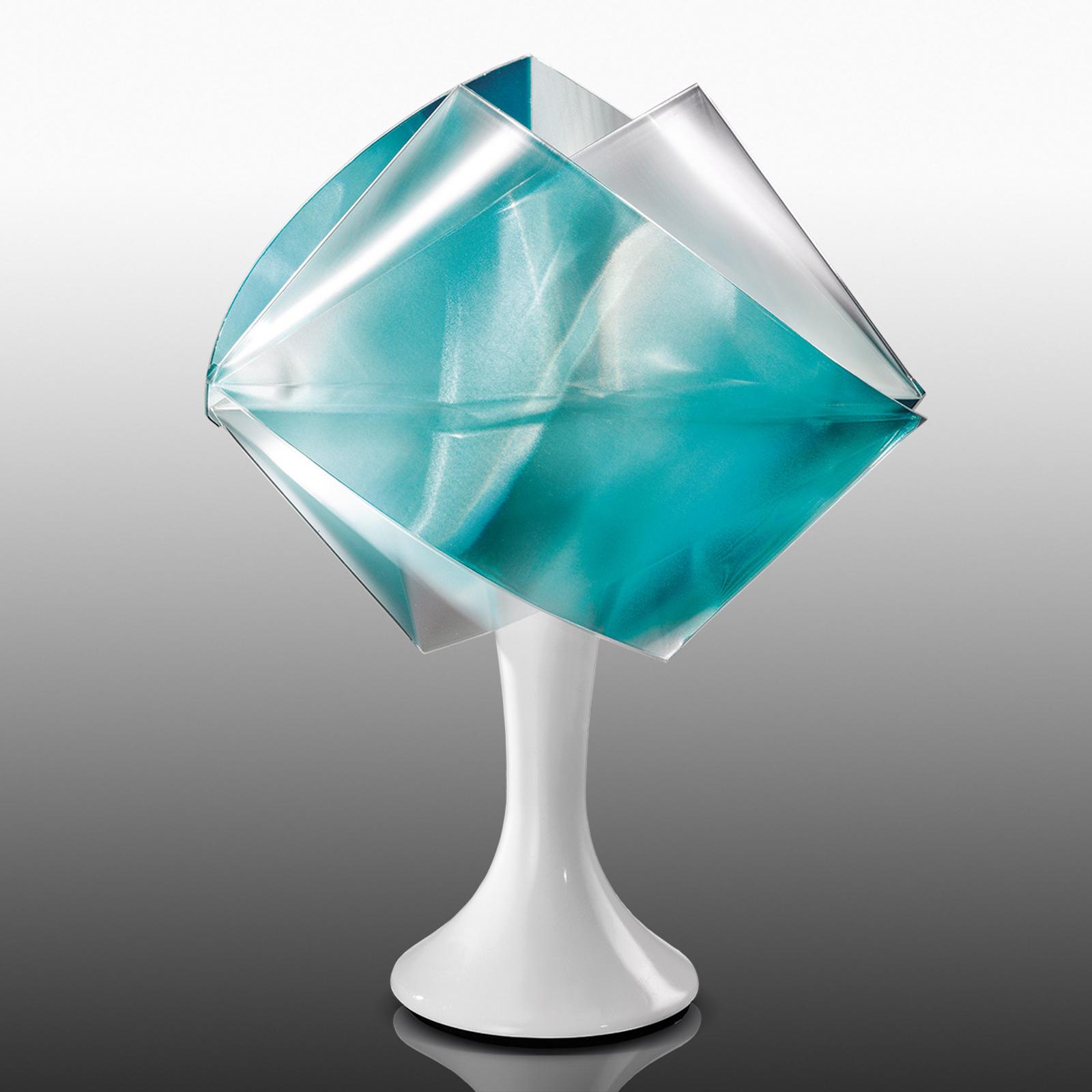 Designerbordlampe Gemmy Prisma, grønn