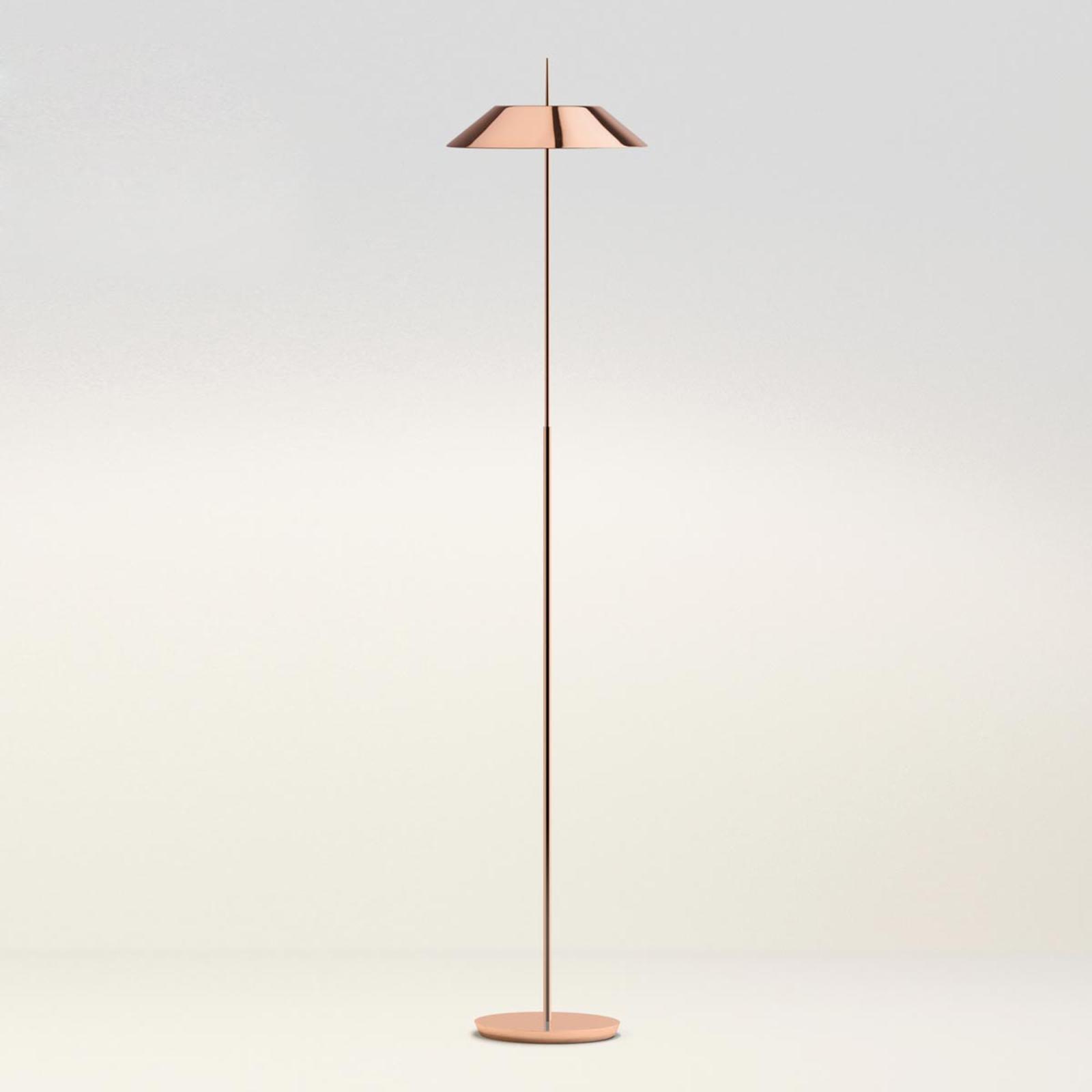 Beau lampadaire LED Mayfair, cuivre