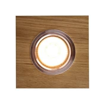 LED-Einbaustrahler Sirion, 9,5x9,5 cm eiche geölt