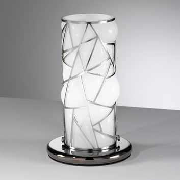 ORIONE bordlampe melementer i rustfrit stål, hvid