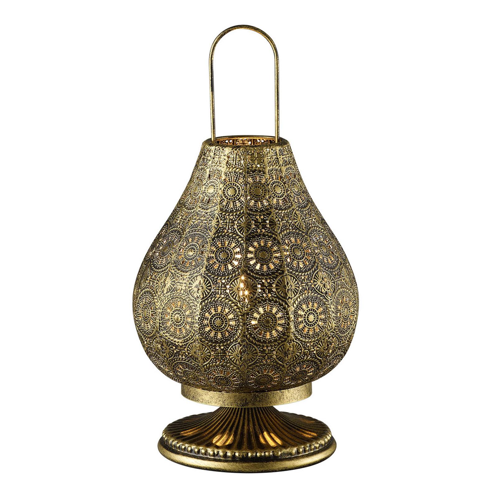 Jasmin - Tischlampe im Orient-Design, altmessing