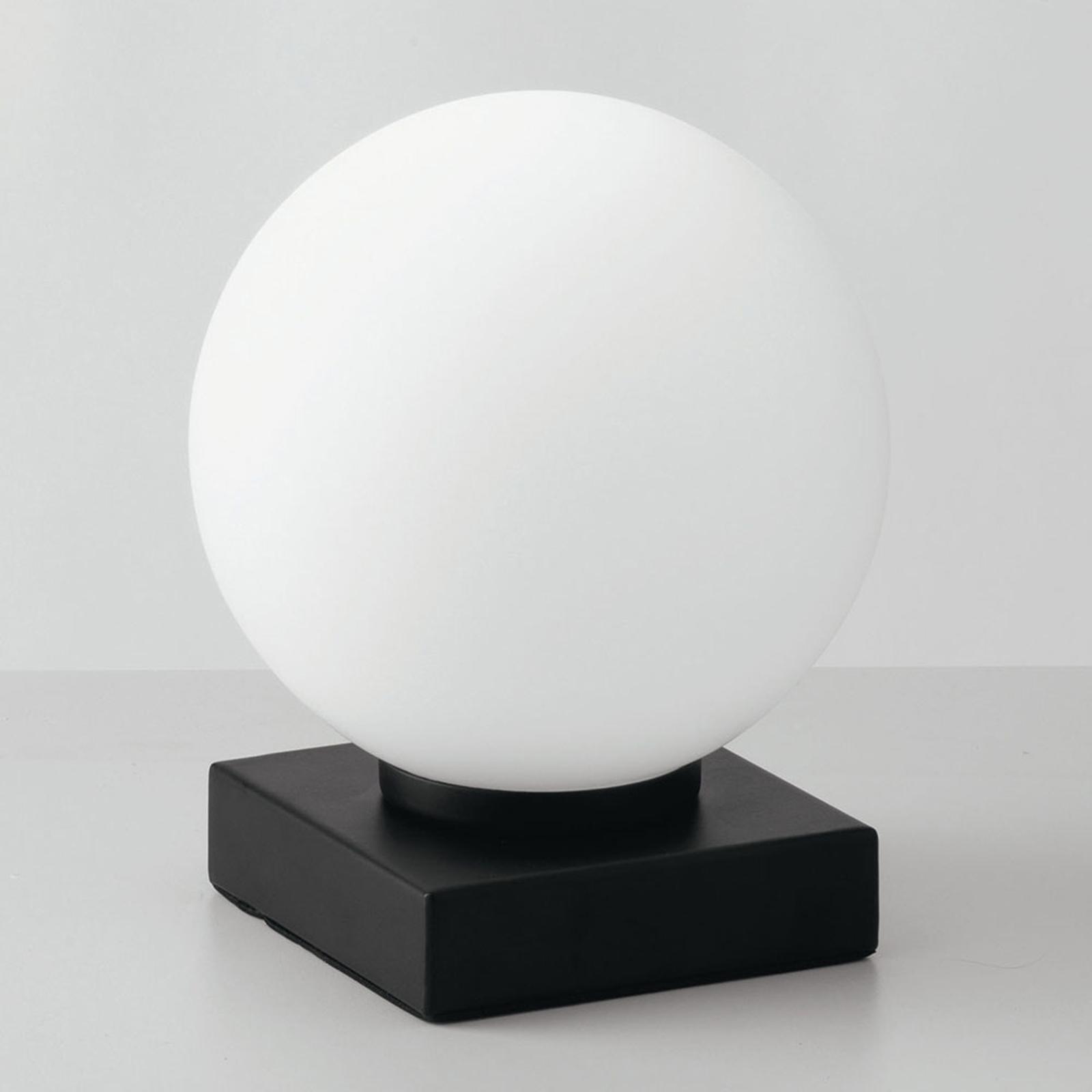 Lámpara de mesa Enoire en blanco y negro, 1 luz