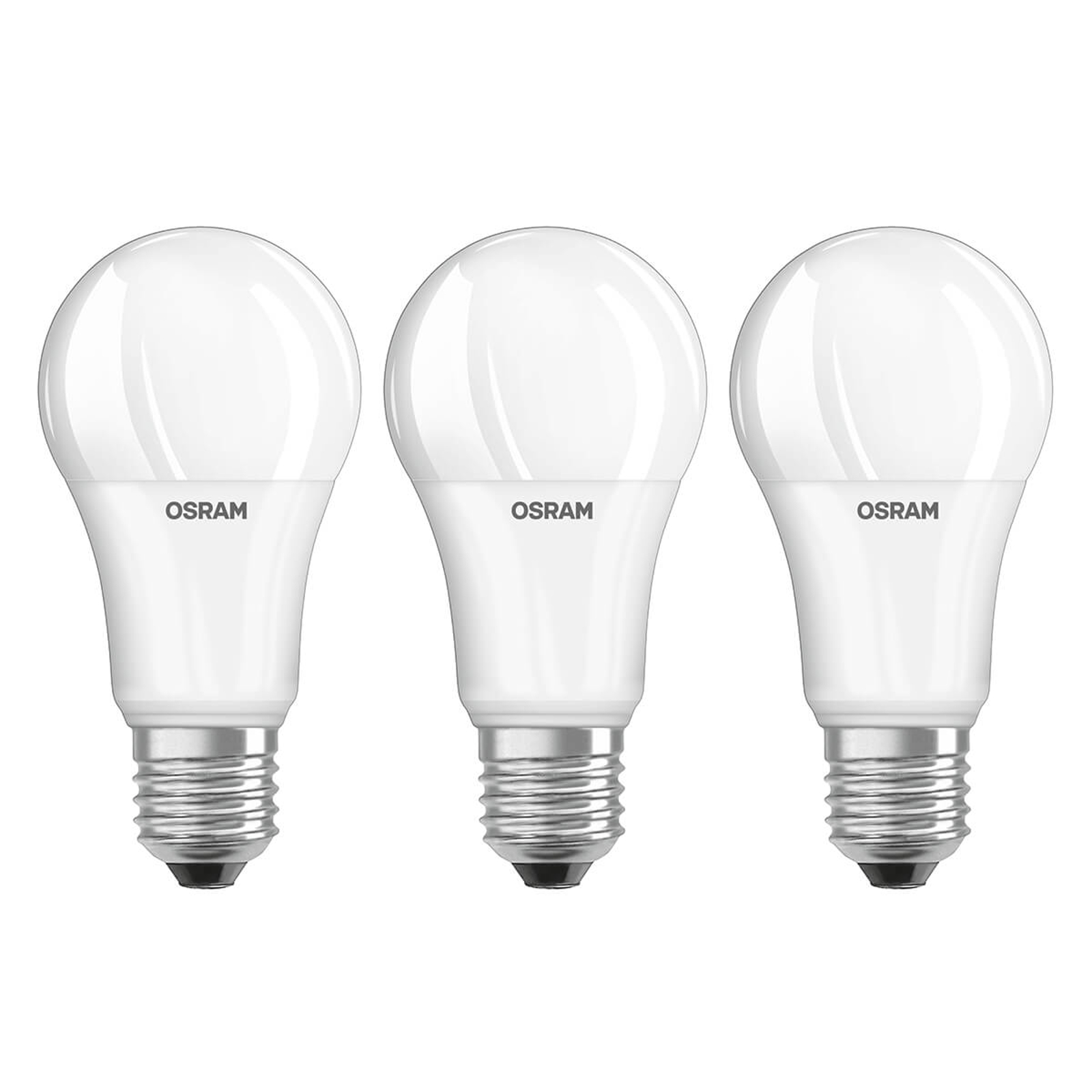 LED lamp E27 13W, universeel wit, set v. 3