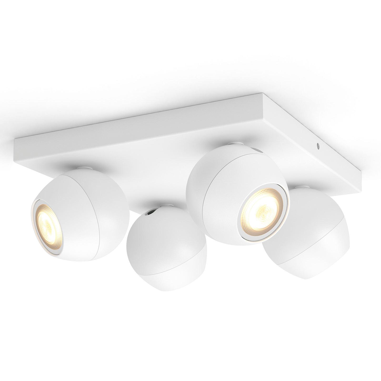 Philips Hue Buckram 4 lyskilder dimmebryter hvit