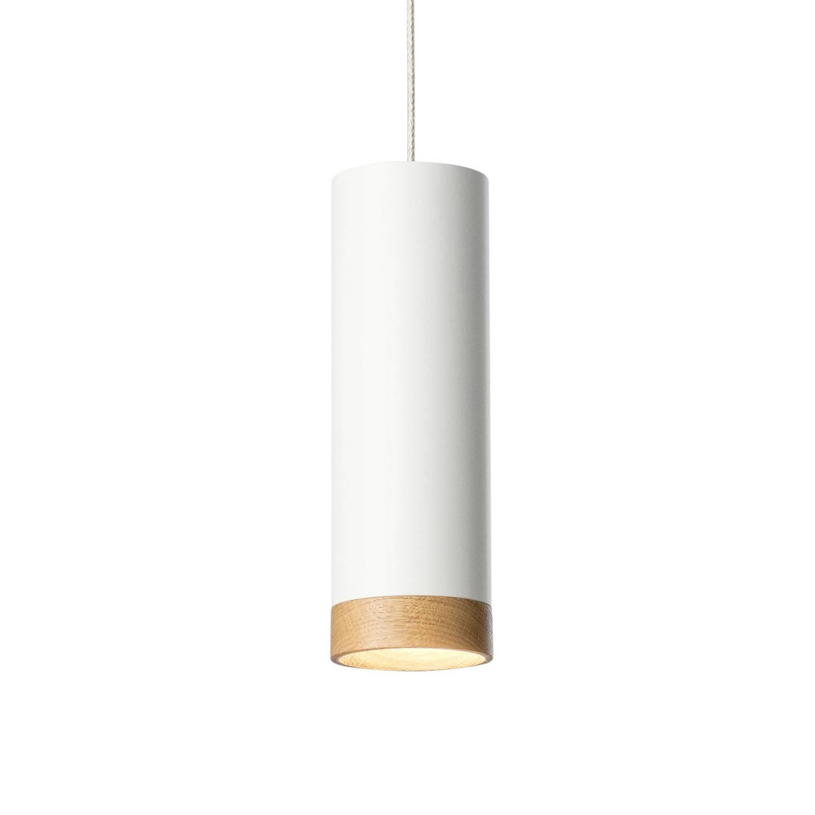 LED-Pendelleuchte PHEB, weiß/eiche