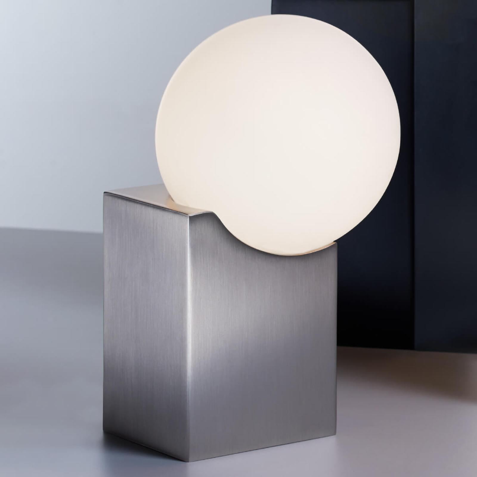 Tafellamp Cub 17,5 cm nikkel mat