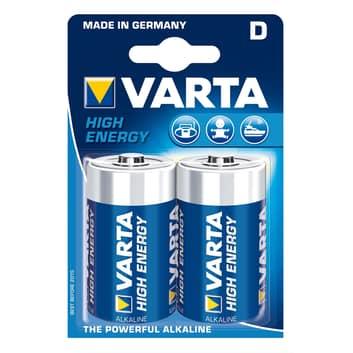 Mono D High Energy-batterier 2-pack blister