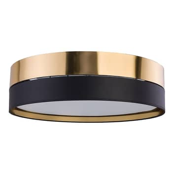 Plafondlamp Hilton, zwart/goud
