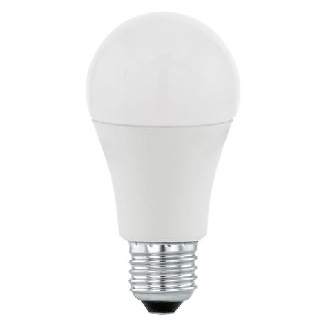 LED lamp E27 9,5W 3.000K met dag/nachtsensor