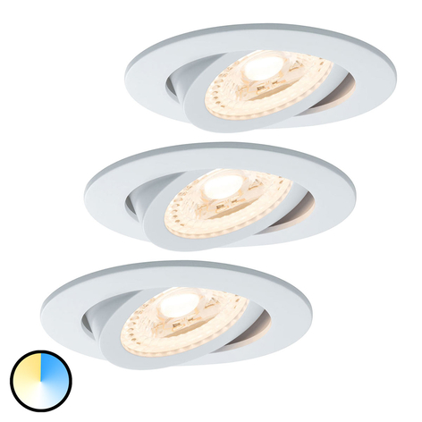 Paulmann Smart Friends 3er LED-Einbauspot Lens CCT
