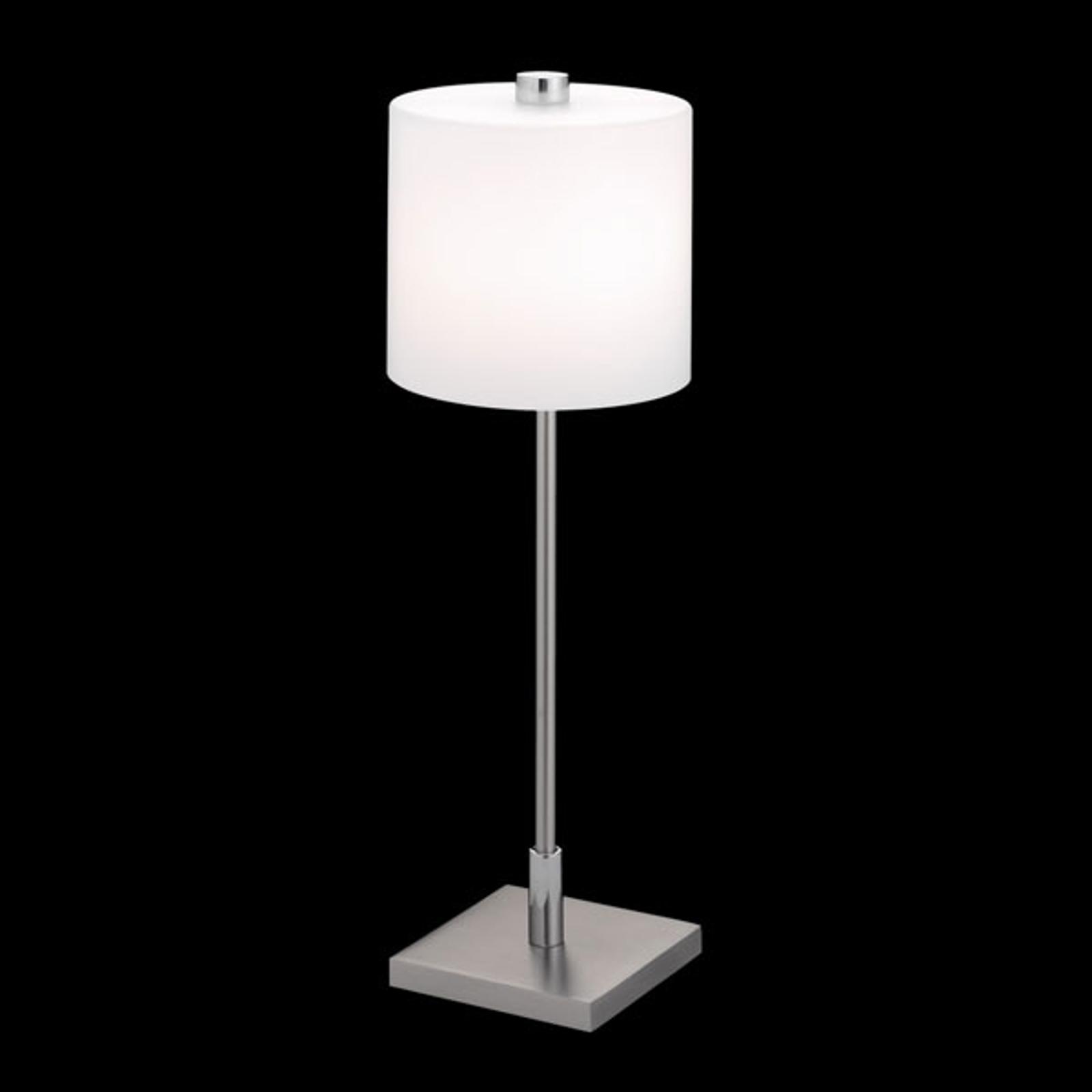KNAPSTEIN lampa stołowa MERCY nikiel i chrom