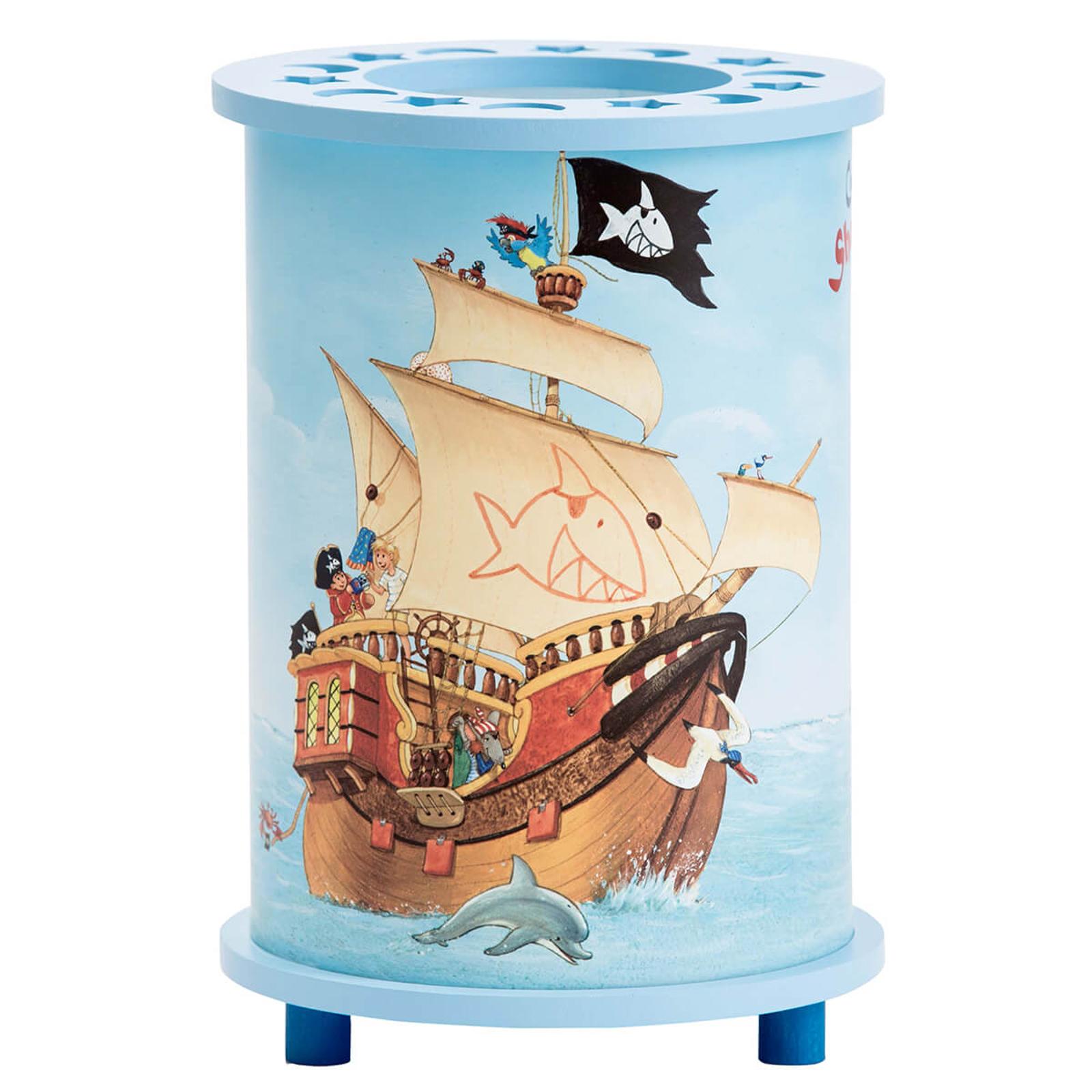 Bordlampe til børneværelset m. Capt'n Sharky-Motiv