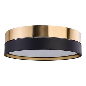 Hilton loftlampe, sort/guld