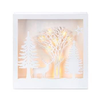 Folkabo LED-belyst 3D-billede i træ