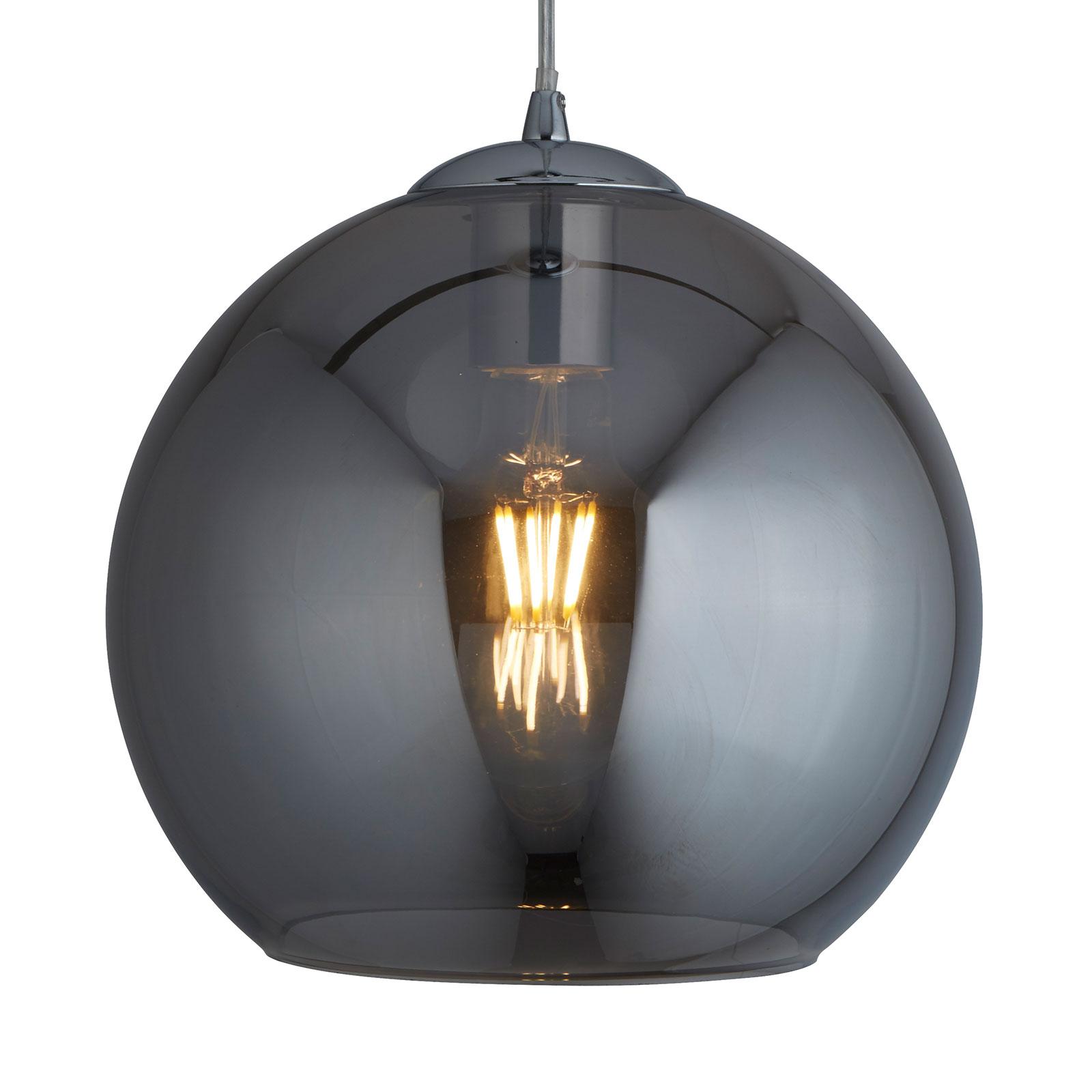 Lampa wisząca Balls, kulki szklane szare, Ø 35cm
