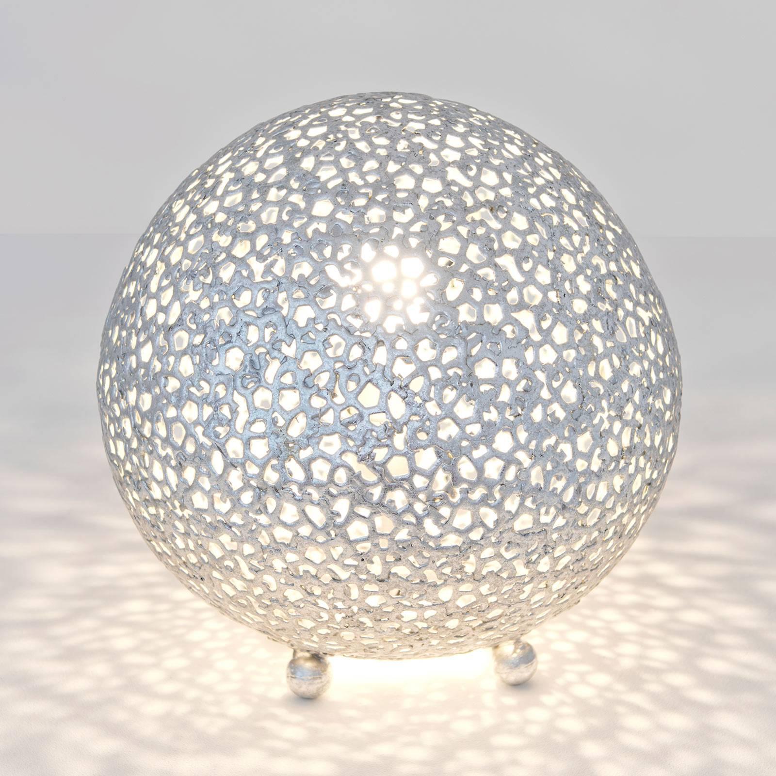 Tafellamp Lily Piccolo, Ø 33 cm, zilver