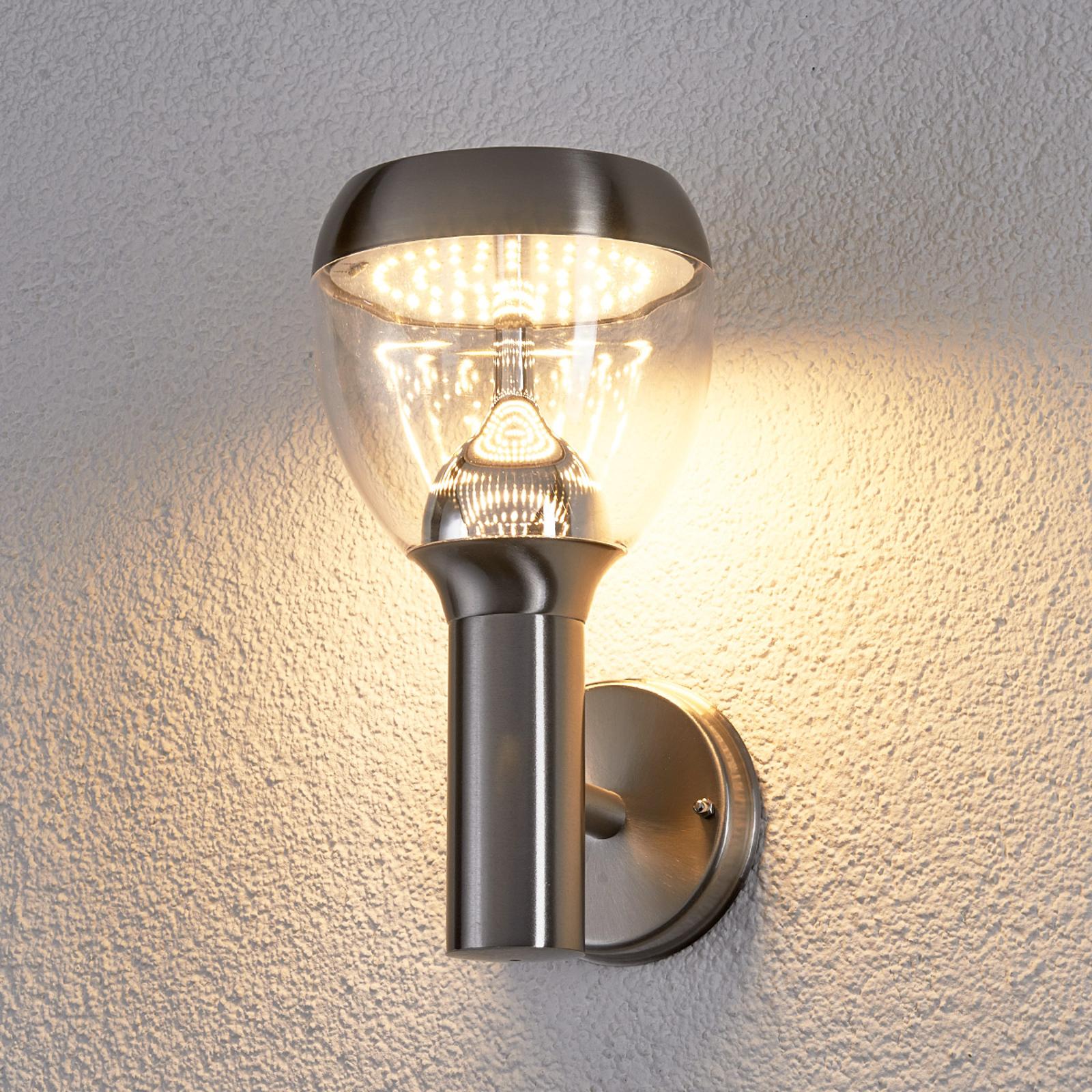 Etta - LED - utendørsvegglampe i rustfritt stål