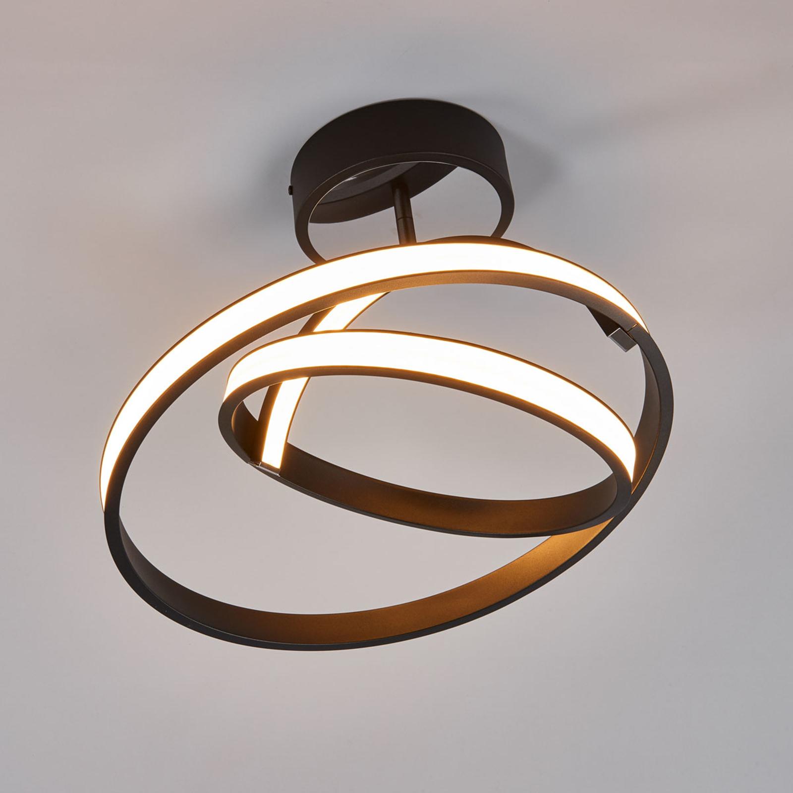 LED-Deckenleuchte Largo Ø 45 cm schwarz