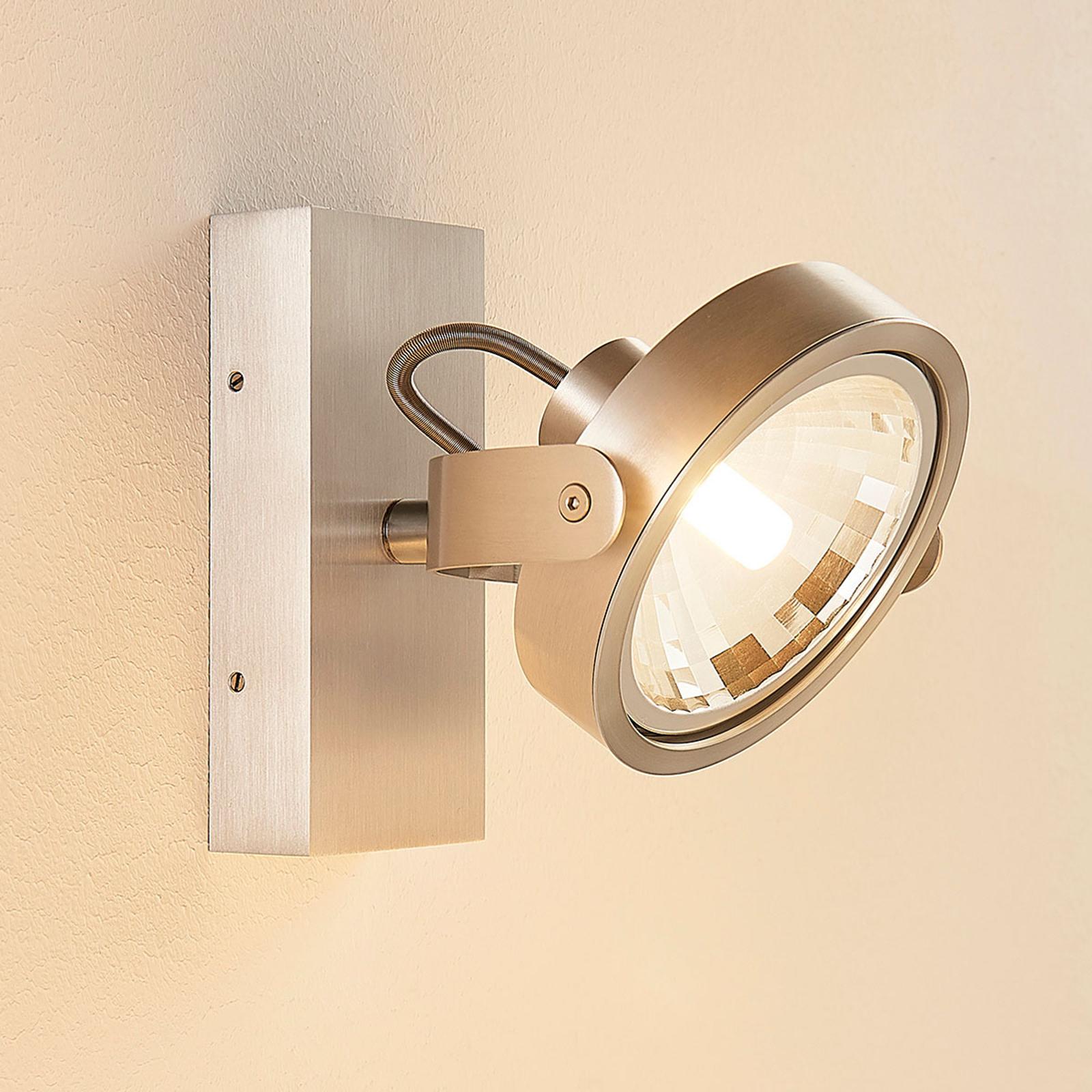 Aluminiumkleurige LED spot Lieven