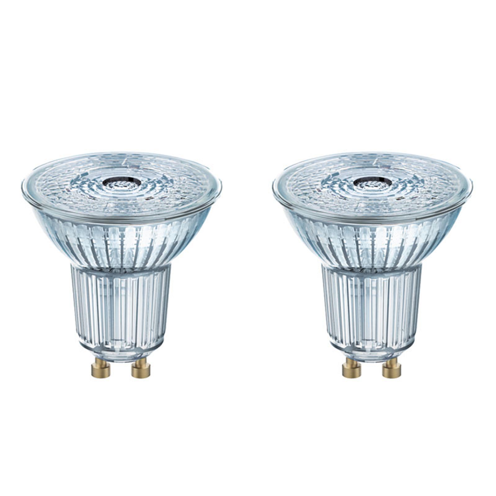GU10 4,3W 827 LED reflektor 2'er sæt