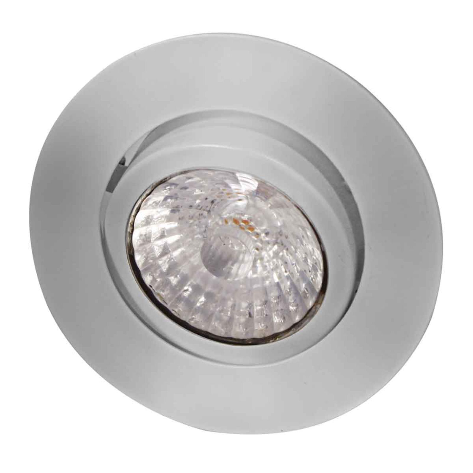 LED indbygningsspot Rico, dim to warm, stål