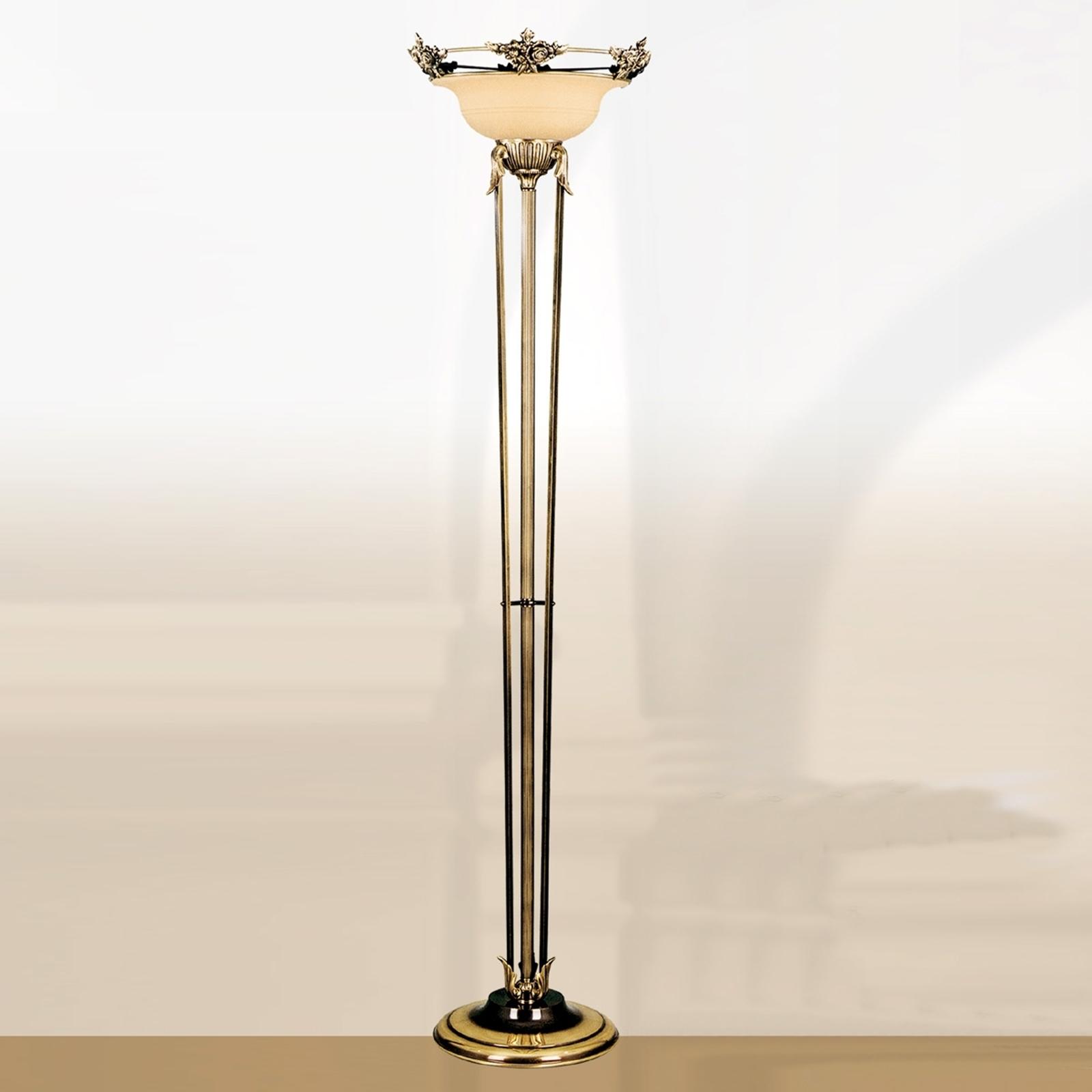 RIALTO yndefuld standerlampe glas rav