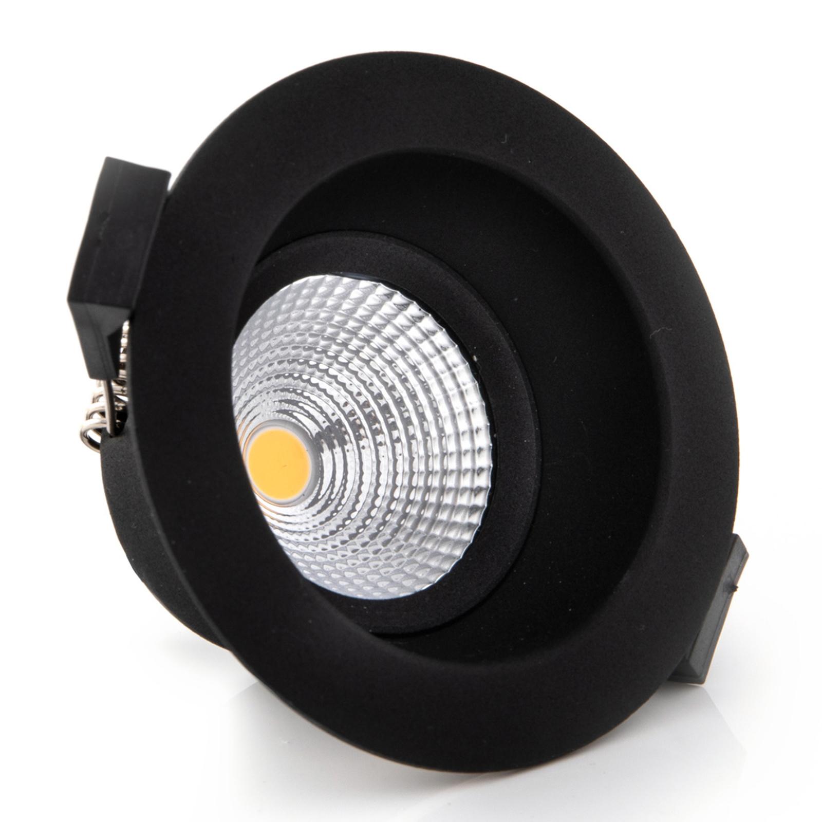 One Soft SLC spot incasso LED nero 3.000K