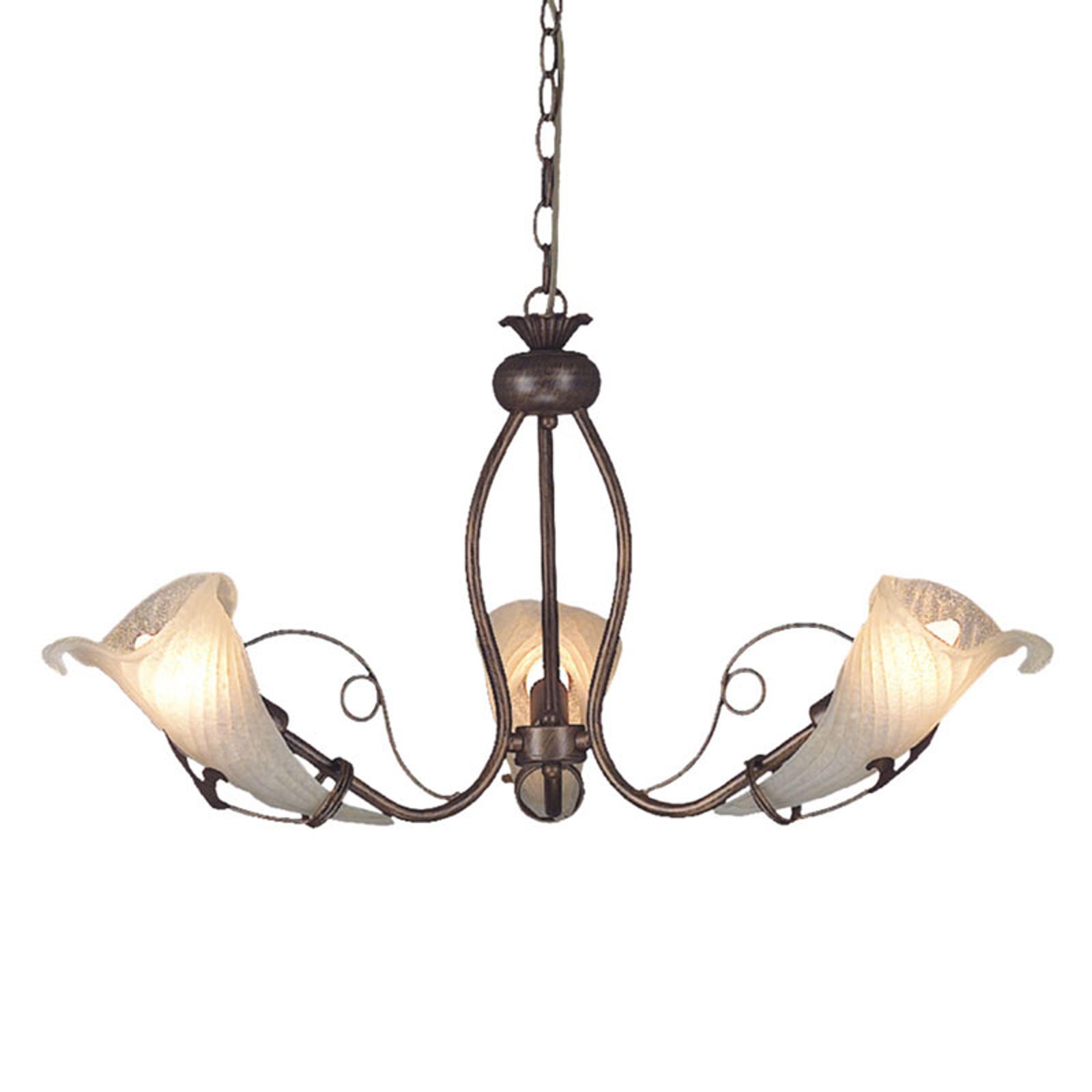 Belle suspension Cros, à trois lampes