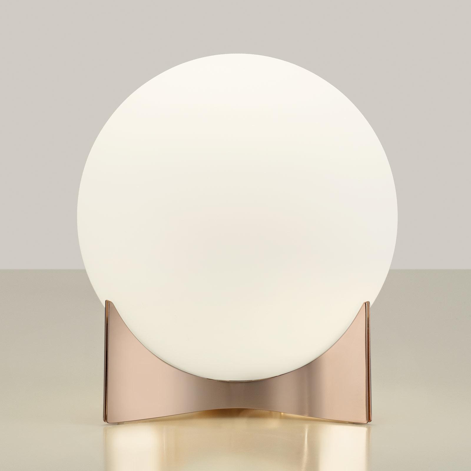 Terzani Oscar tafellamp van glas, roségoud