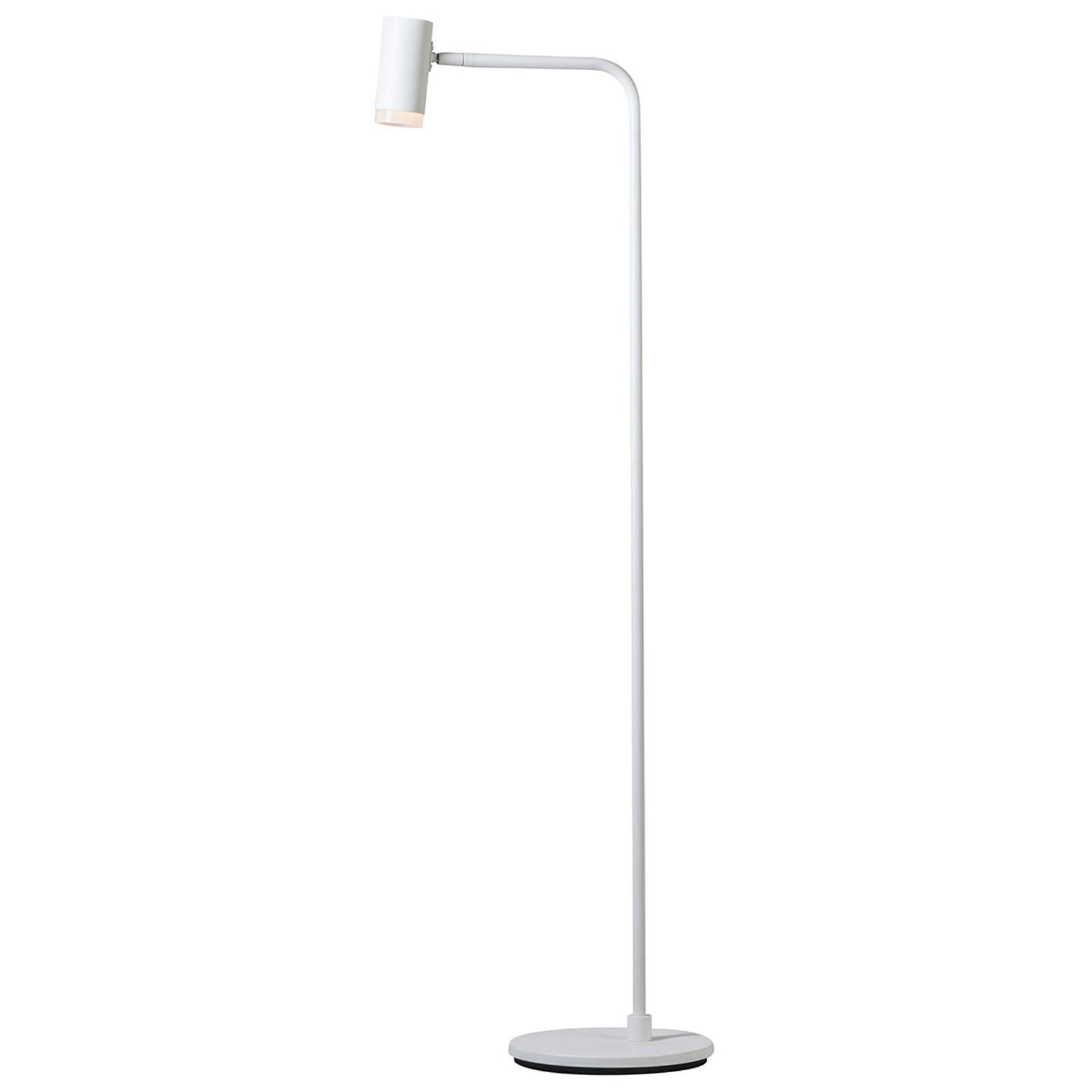 Lámpara de pie LED Cato Q con atenuador, blanco