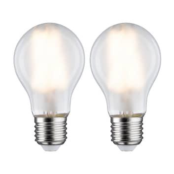 LED-lampa E27 7W 2 700 K matt 2-pack