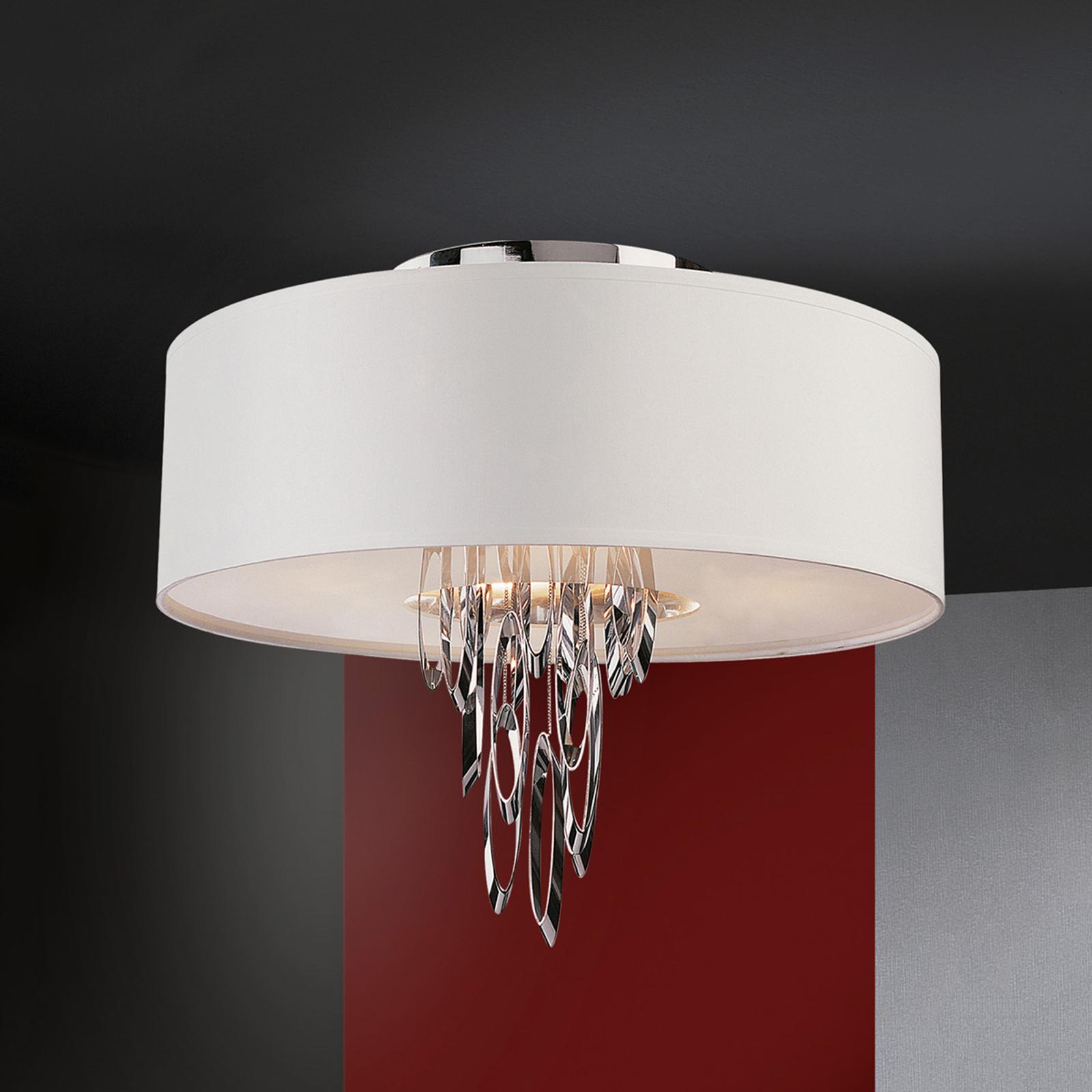 Elegancja tekstylna lampa sufitowa LED Domo
