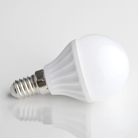 Lampadina LED E14 4W 830 a forma di goccia opaca
