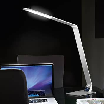 Platt LED-skrivbordslampa Wasp av aluminium