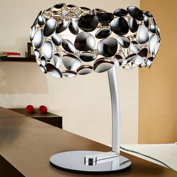 Interessante lampada tavolo LED Narisa cromata