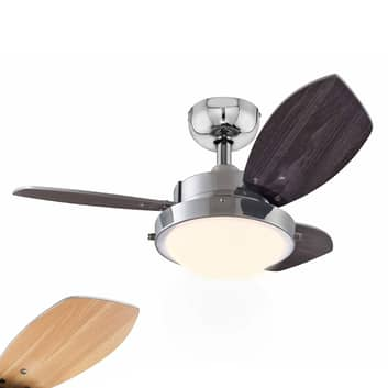 Vent. techo Wengue con lámpara halógena