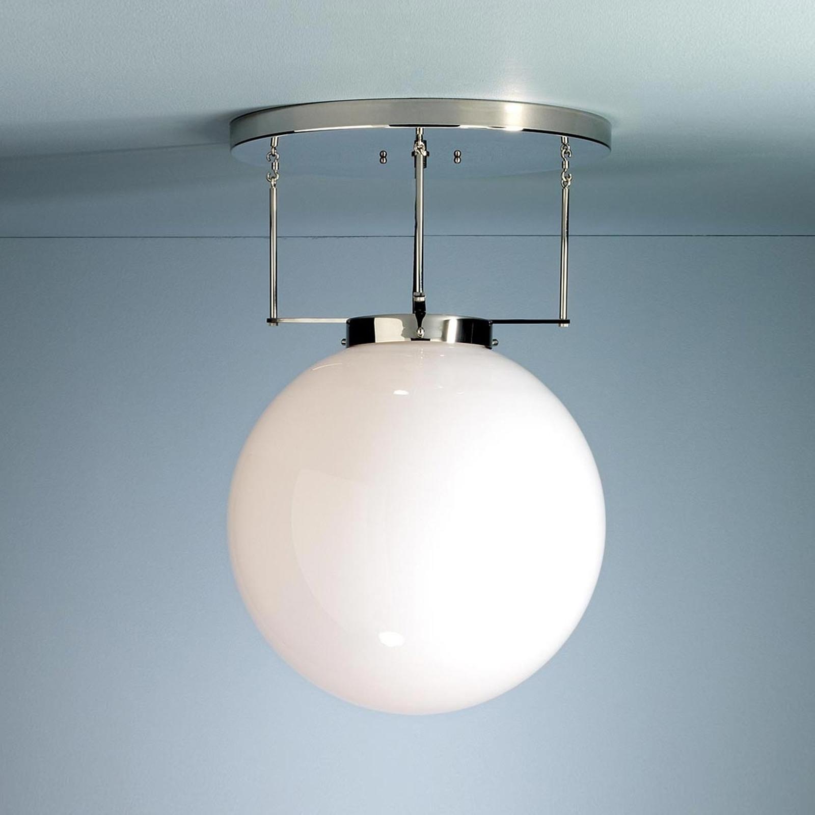 Lampa sufitowa Brandt w stylu Bauhaus 35 cm nikiel