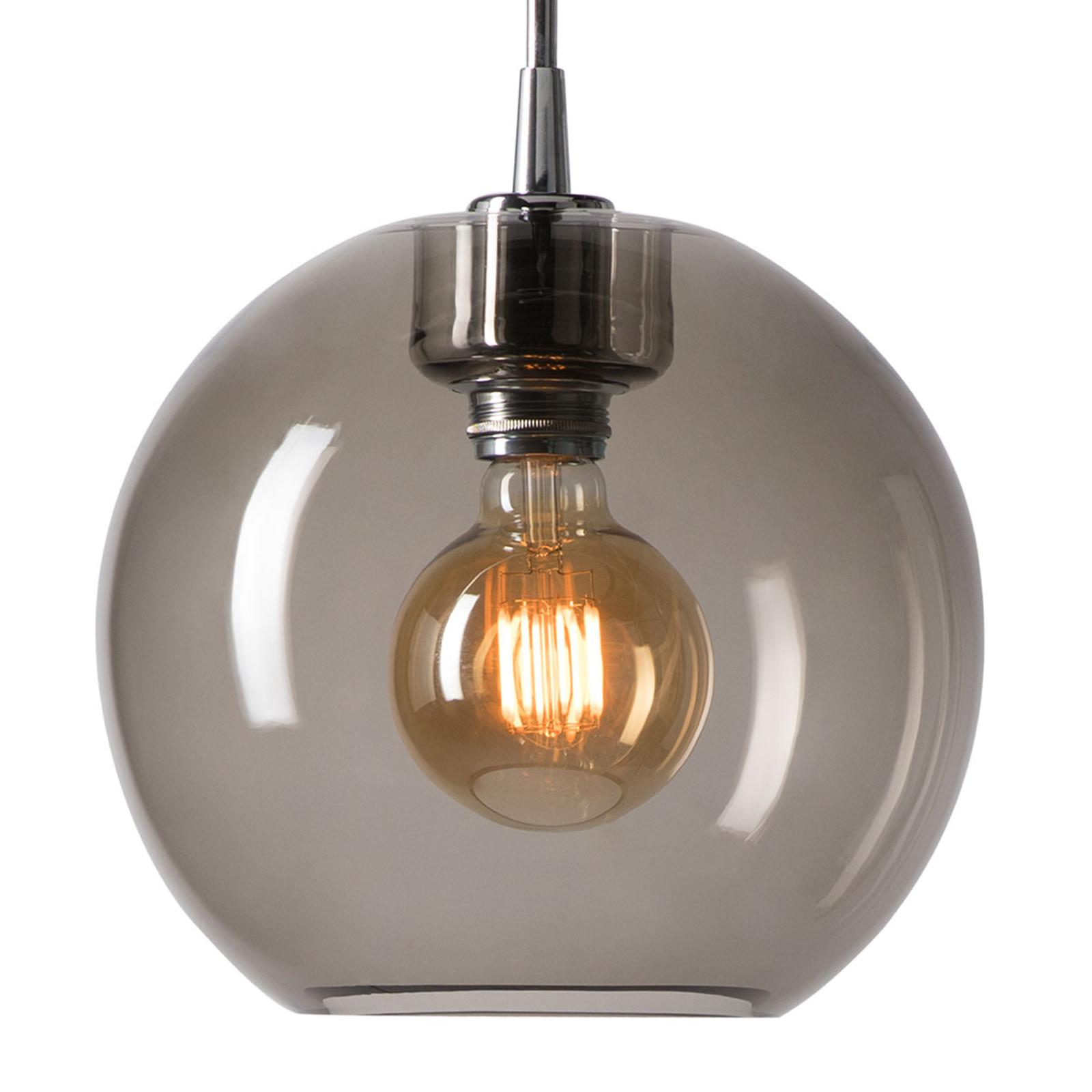 Lampa wisząca Gloria chrom/dymione szkło Ø 26 cm